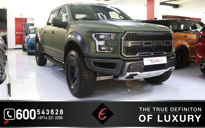 FORD F-150 RAPTOR CREW CAB 2018 (Matte Green)