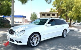 MERCEDES BENZ E55 AMG WAGON WHITE MODEL 2004