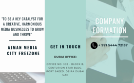 Business Set-up in Ajman Media City Free zone - #971544472157
