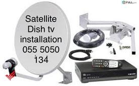 Satellite Dish tv Installation 0555050134 & Airtel Hd Services in al Karama