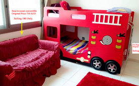 Fire Engine Kids Fun Double Bed.