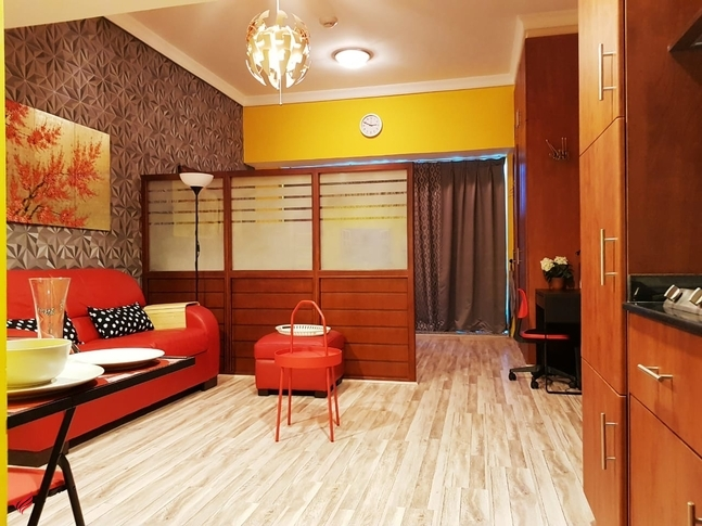 Studio fully furnished opposite metro station