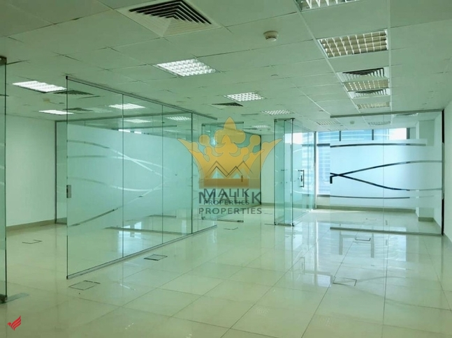 Fitted Office In a Proper Set Up Glass Partitioned