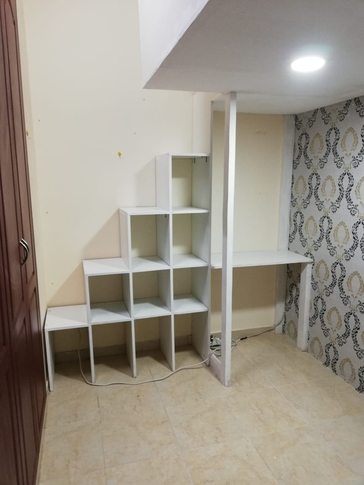 Loft Type Closed Partition with Big Wardrobe and Sharing Bathroom