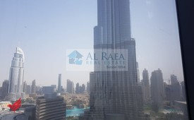 Fitted Office for rent with Burj and fountain view