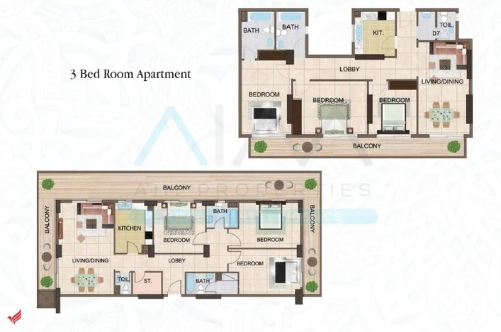 Prime Location_Large 3BR_Pay 10% Booking