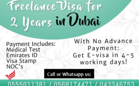 Free lance visa in Dubai for 2 years