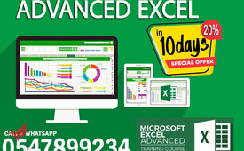 Advanced Excel in 10 days 0547899234