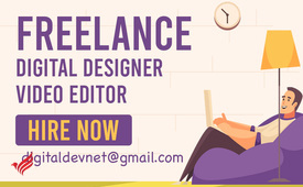 Freelance designer and video editor