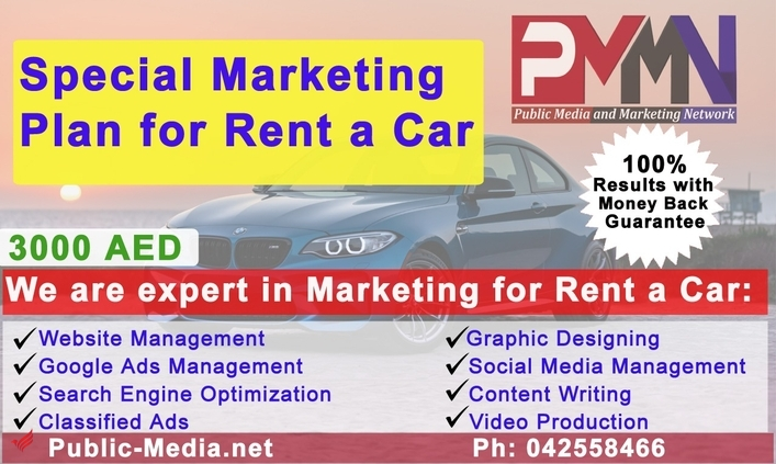 Special marketing plan for Rent A Car companies