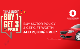 Get a Gift worth AED 21,500 Free | InsureAtOasis | Best Car Insurance Onlin