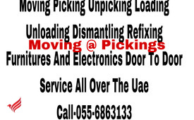 MOVING & STORAGE SERVICES 055 6863133 WE DO PICKING SHIFTING DOOR TO DOOR